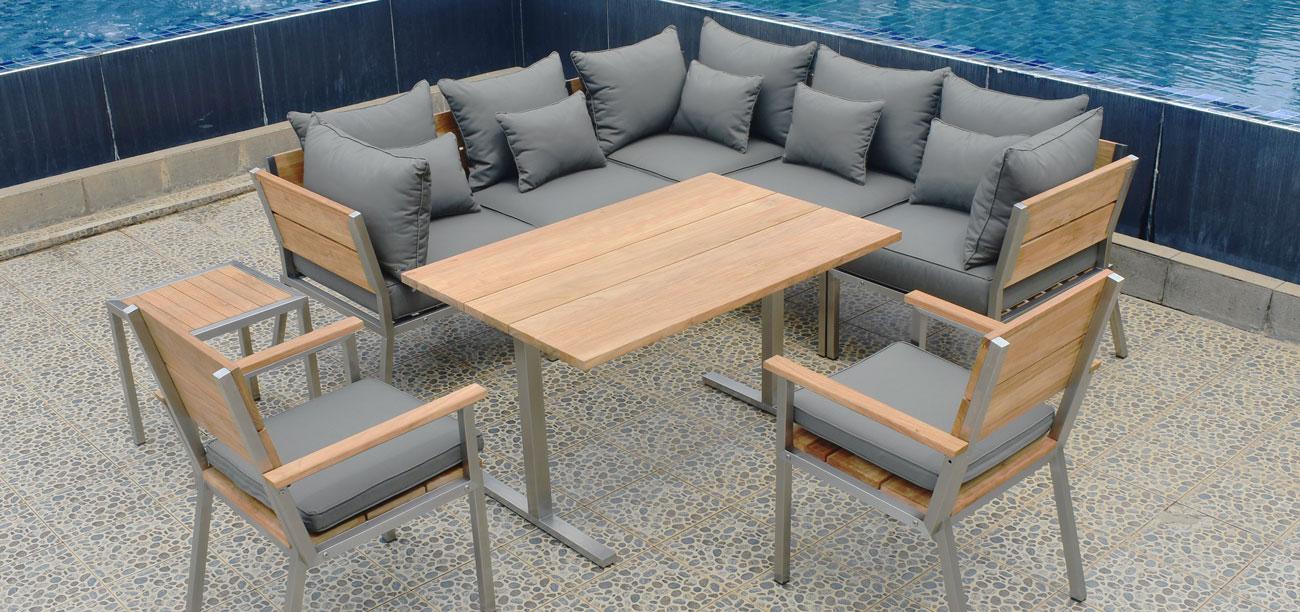 Modern Terrassenmöbel Holz