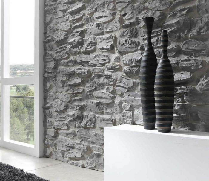Modern Wandverkleidung Stein Wohnzimmer