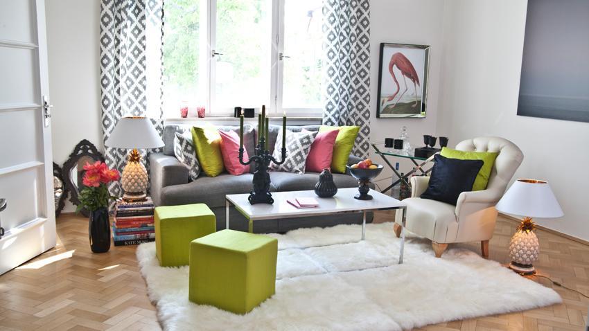 Modern Wohnzimmer Gardinen