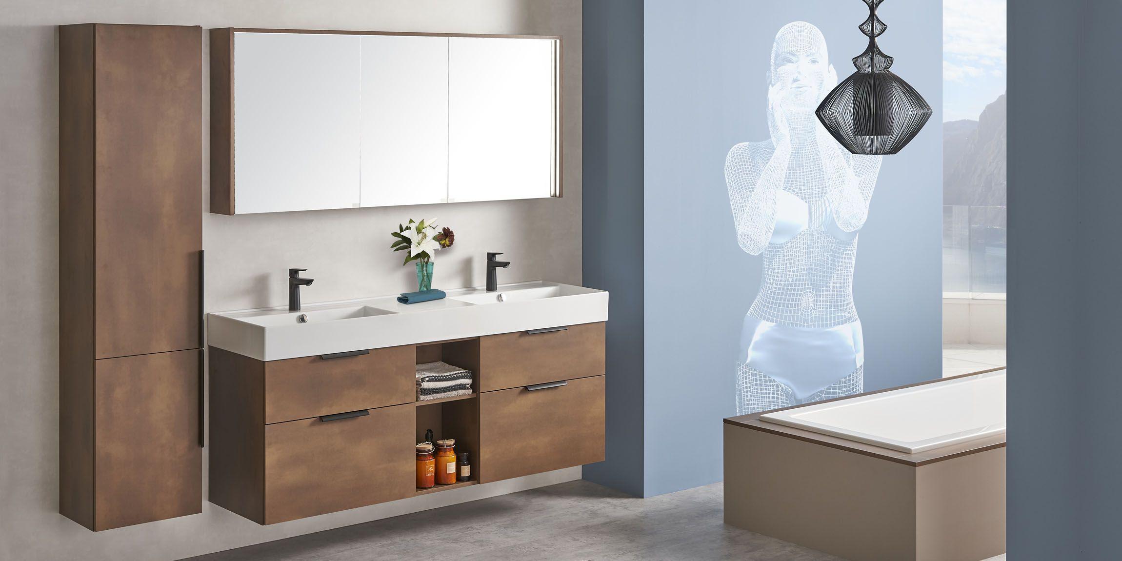 Moderne Badmöbel Mit Aufsatzwaschbecken