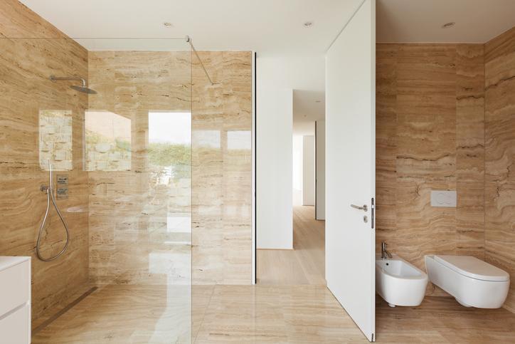 Moderne Dusche Mit Sitzbank