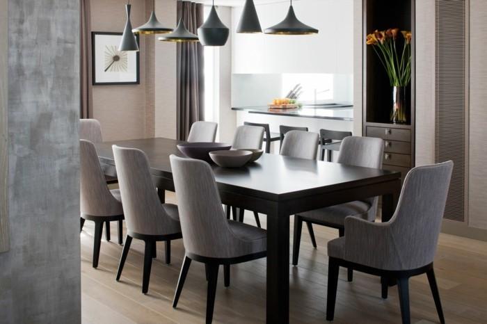 Moderne Esstisch Stühle Grau