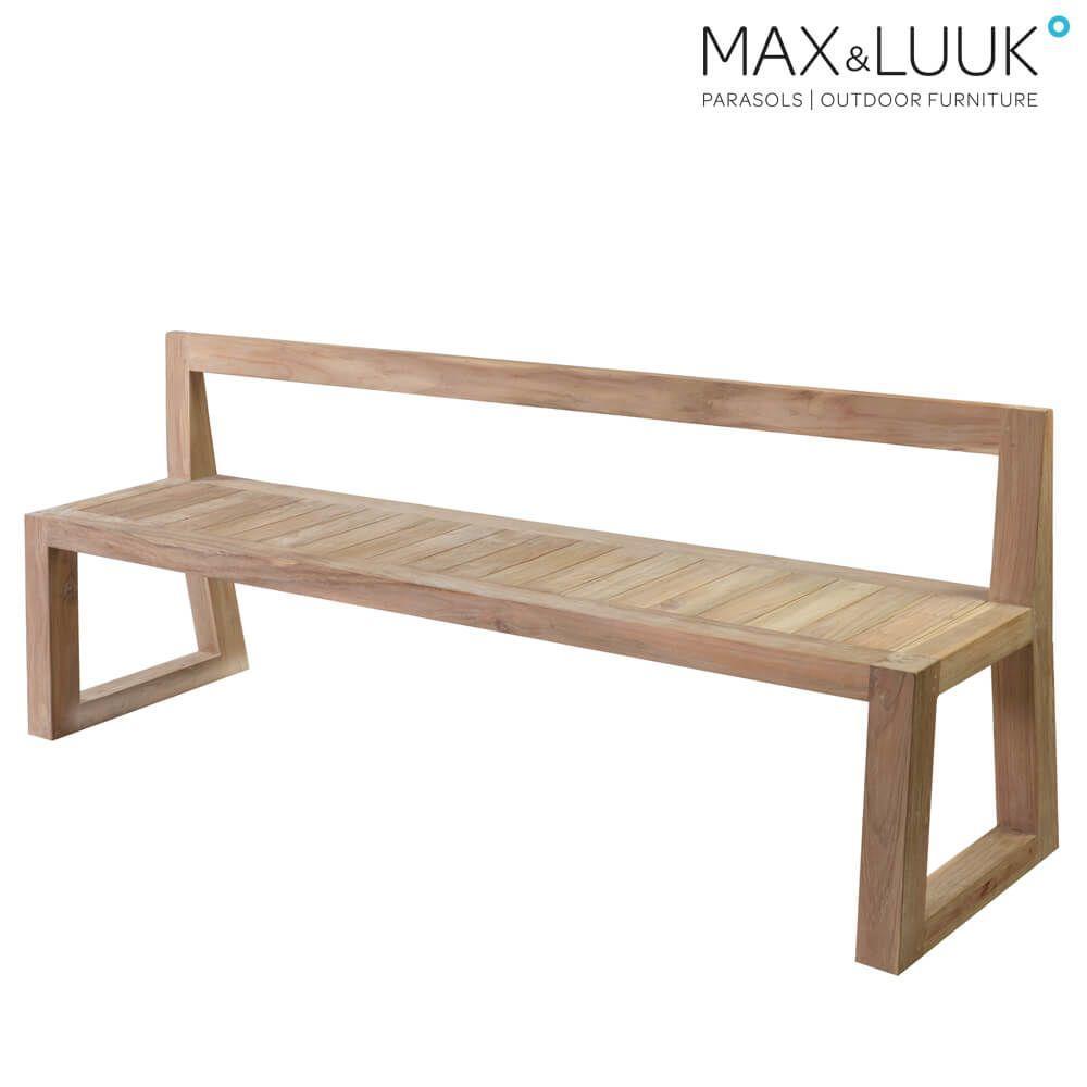 Moderne Gartenbank Holz Metall