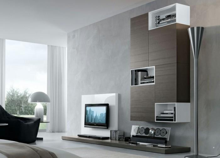 Moderne Wandgestaltung Wohnzimmer