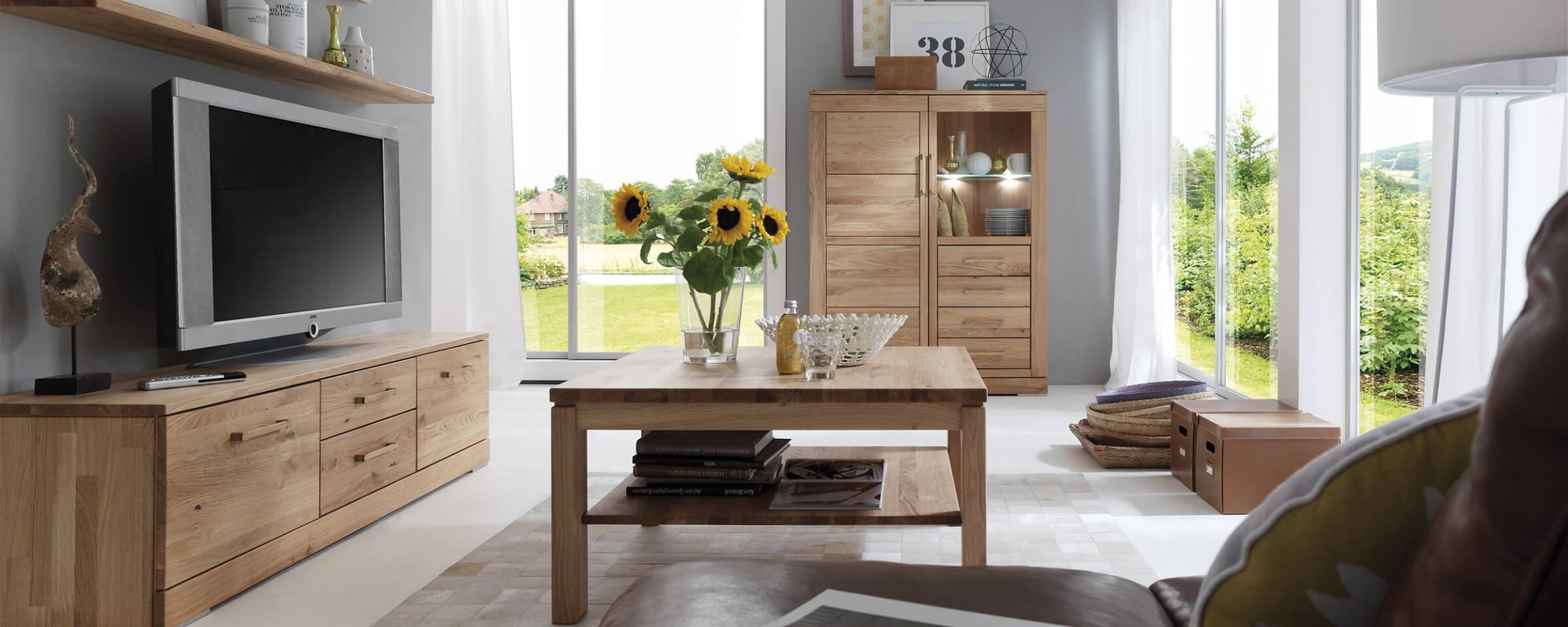 Moderne Wohnwand Weiß Mit Holz