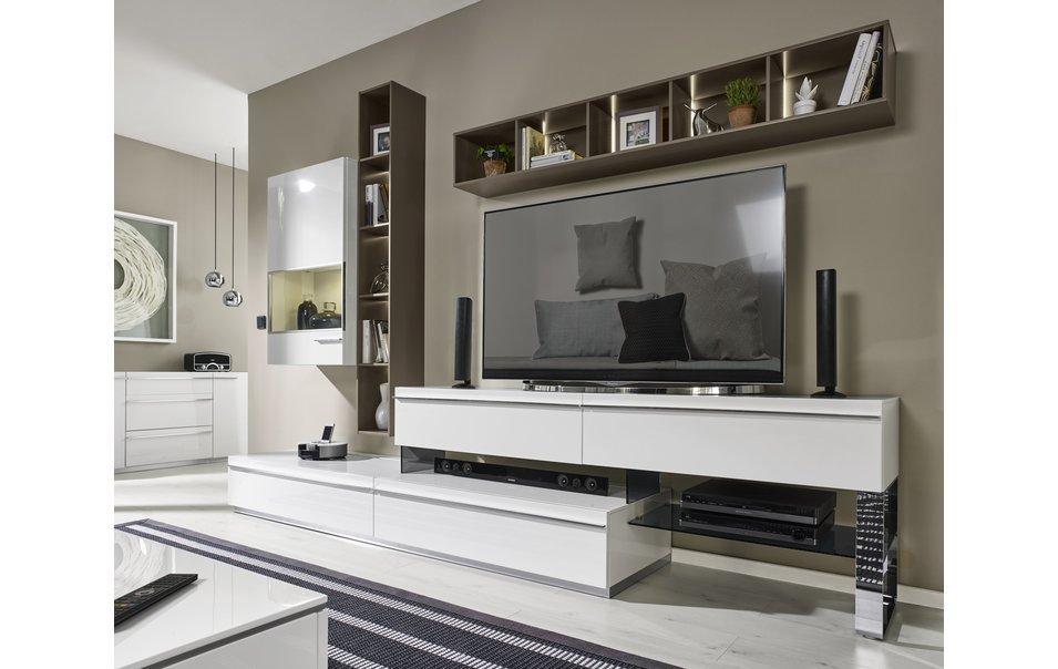 Modernes Wohnzimmer Weiß Grau