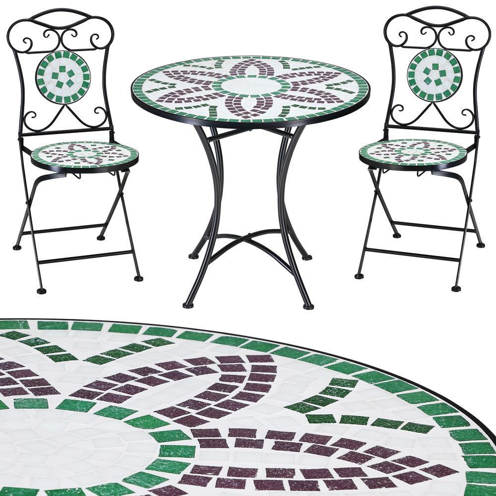 Mosaik Gartentisch Set