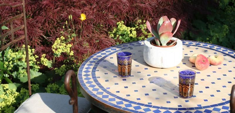 Mosaiktisch Garten Set