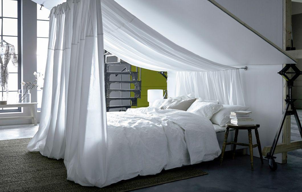 Moskitonetz Bett Dachschräge
