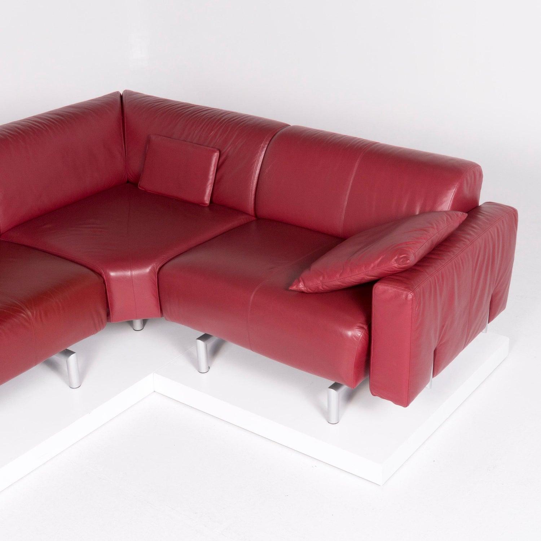 Musterring Sofa Leder Rot