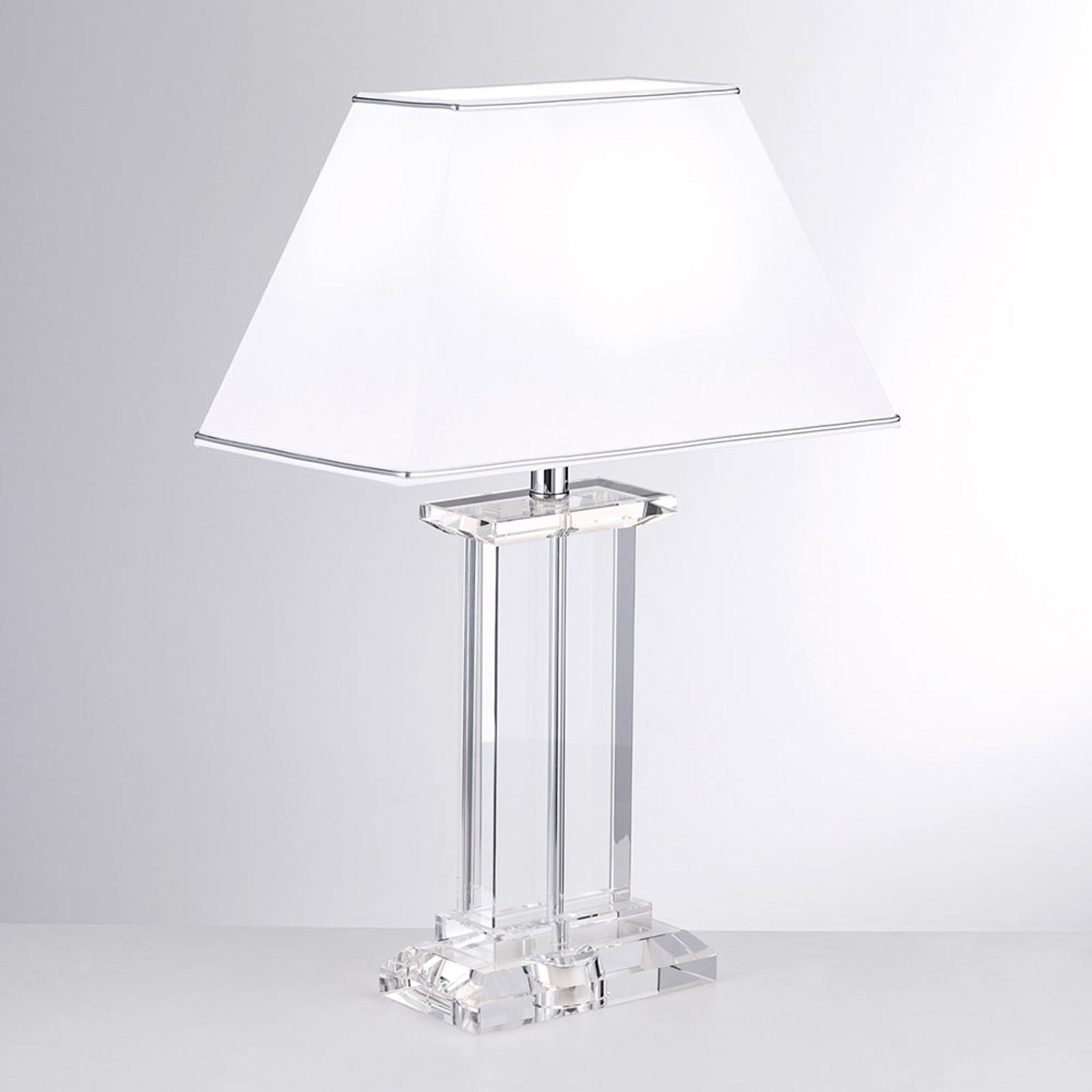 Nachttischlampe Mit Kristallfuß