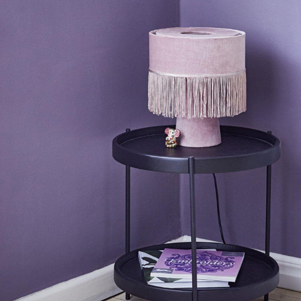 Nachttischlampe Rosa Grau