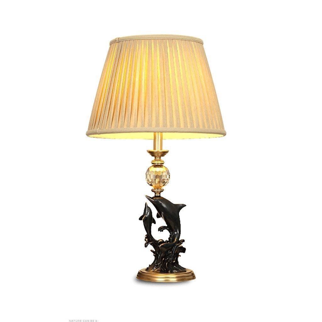 Nachttischlampe Schwarz Kupfer