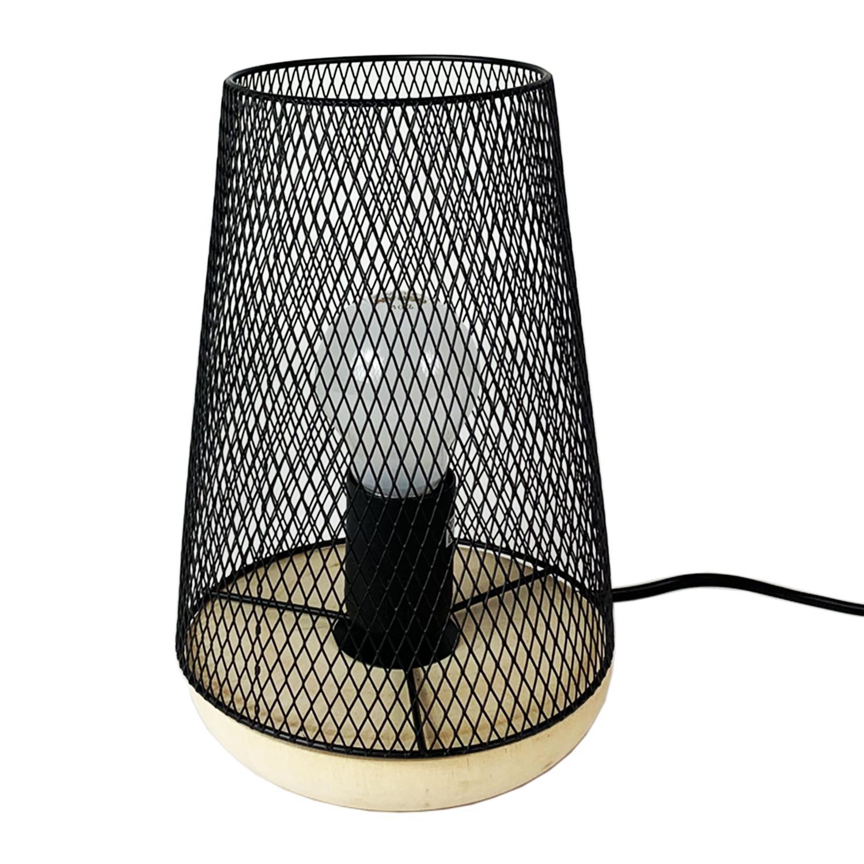Nachttischlampe Schwarz Metall