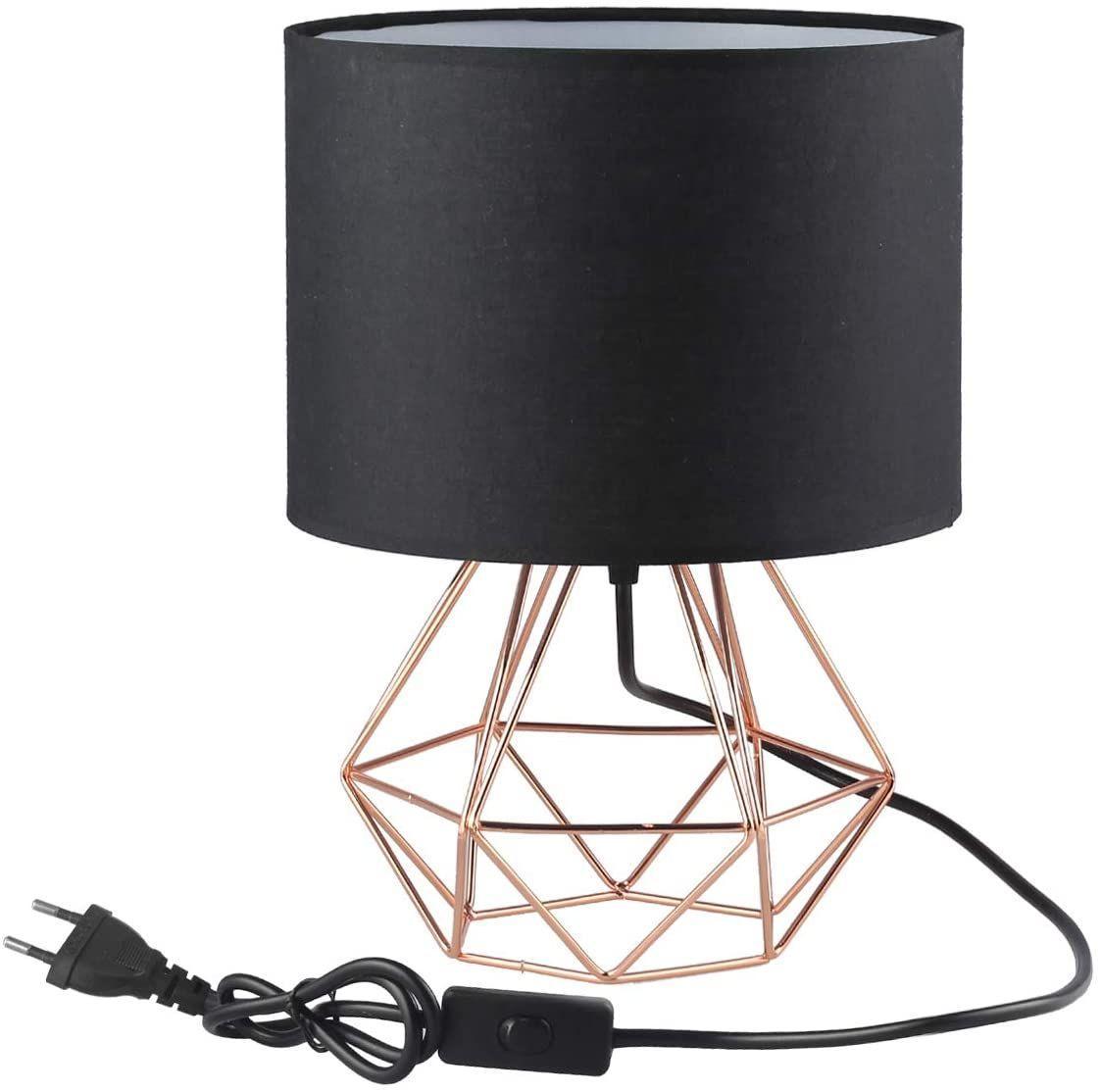 Nachttischlampe Vintage Schwarz