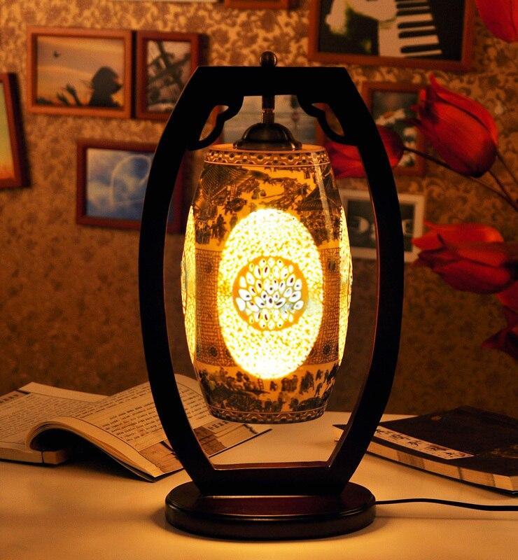 Nachttischlampe Vintage Weiß