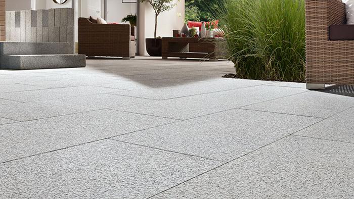 Naturstein Terrassenplatten Grau