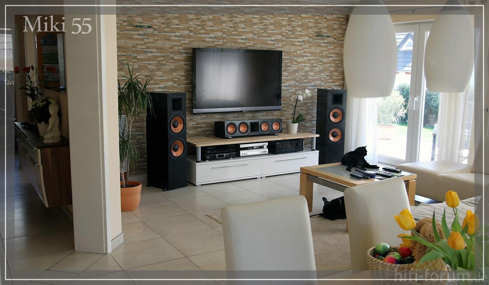Natursteinwand Wohnzimmer Grau