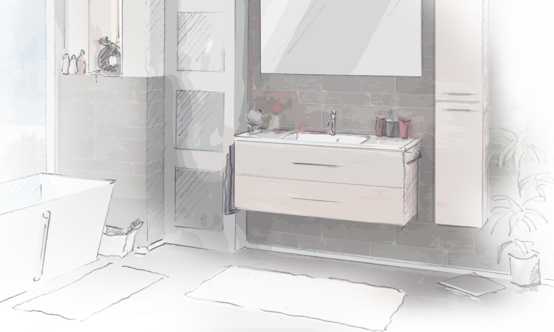 Obi Badezimmermöbel Set
