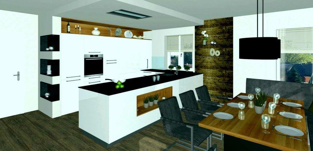 Offene Küche Mit Esszimmer Und Wohnzimmer