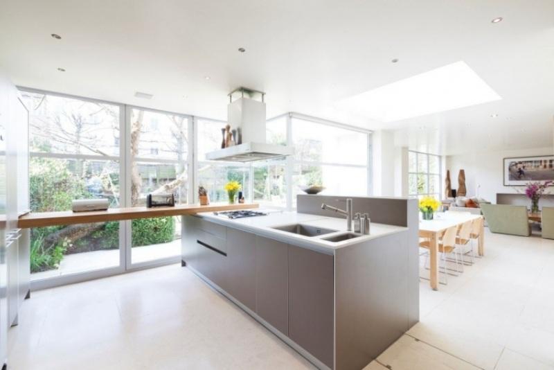 Offene Küche Mit Kochinsel Wohnzimmer