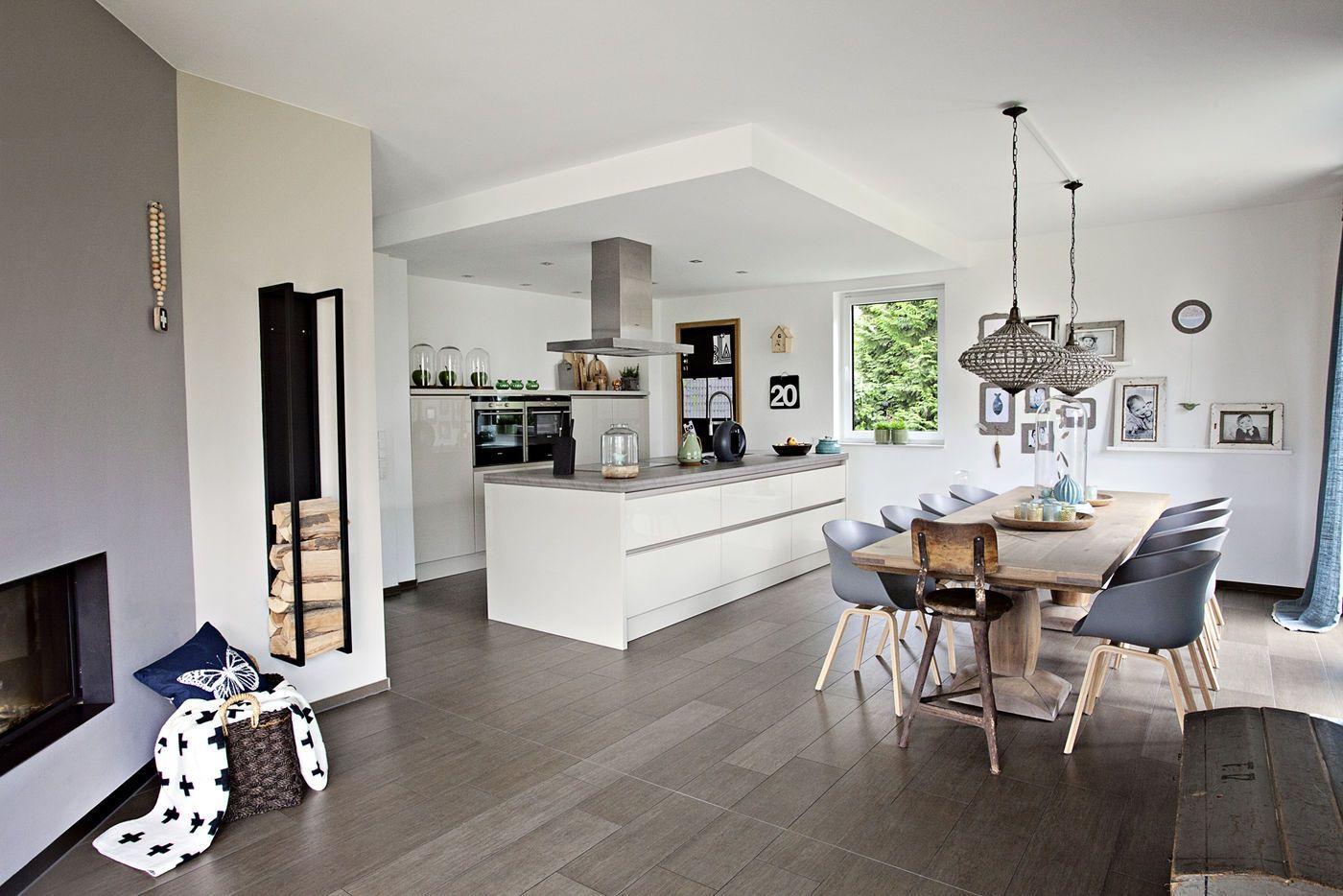 Offene Wohnküche 30 Qm Wohnzimmer Mit Küche