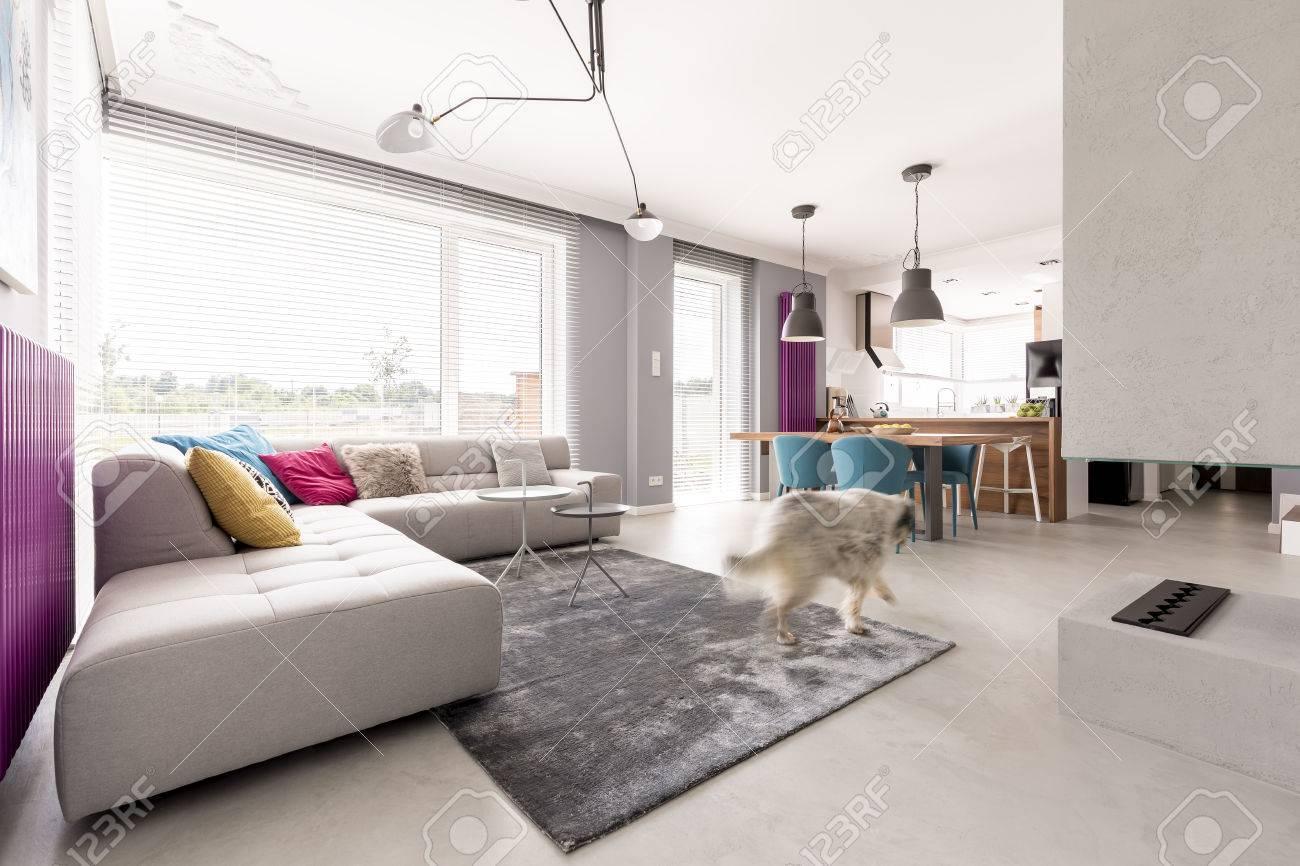 Offene Wohnküche Mit Wohnzimmer Kamin