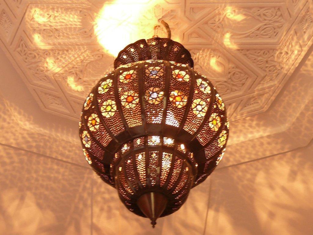 Orientalische Lampe Bunt