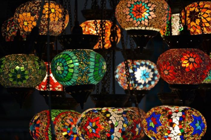 Orientalische Lampen Mosaik