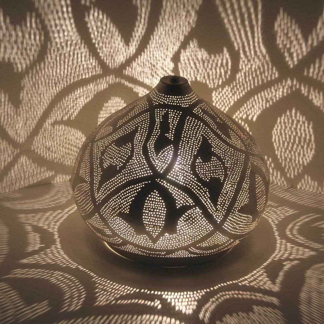 Orientalische Stehlampe Silber