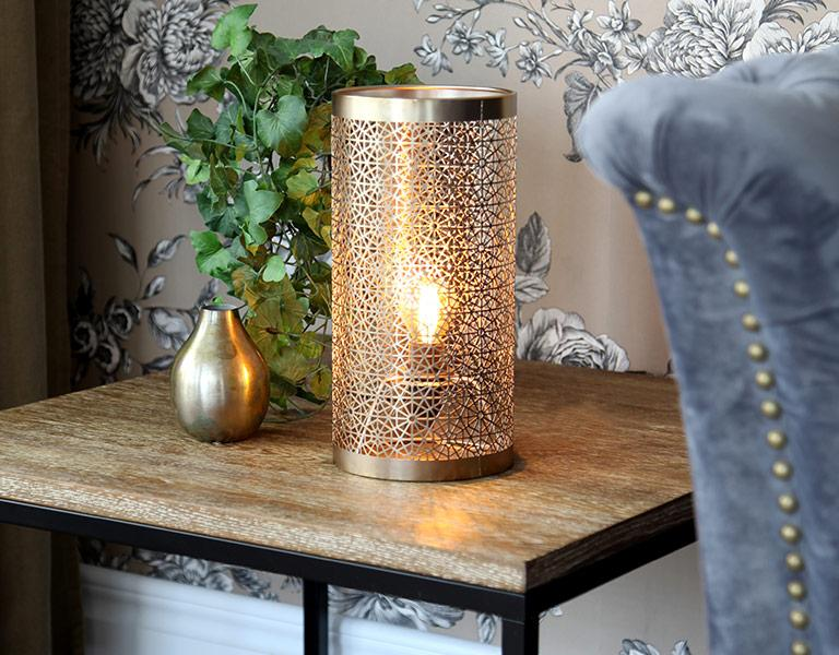 Orientalische Tischlampe Gold
