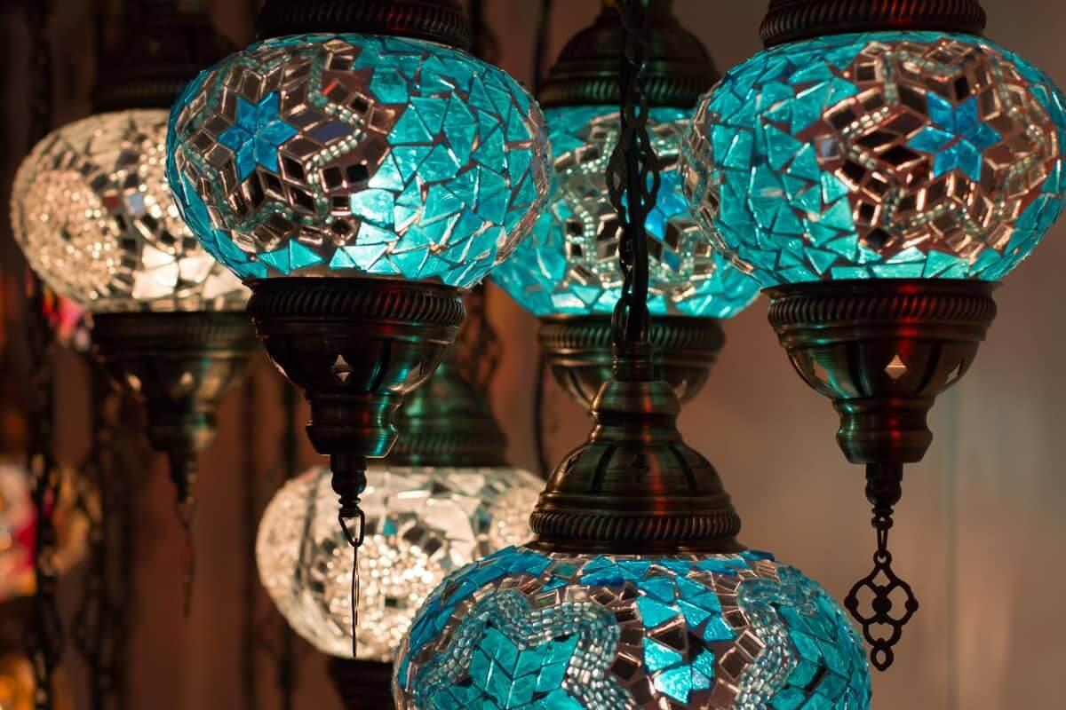 Orientalische Tischlampe Mosaik