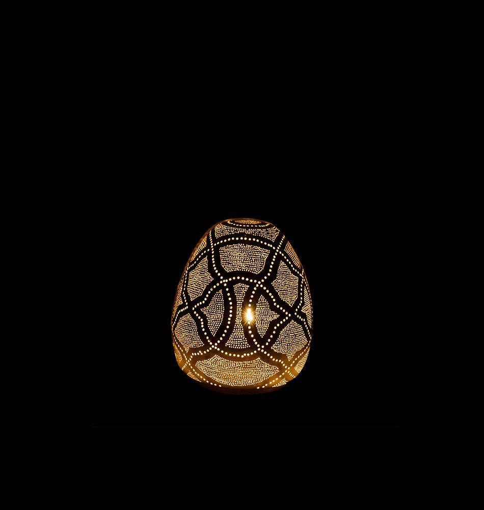 Orientalische Tischlampe Silber