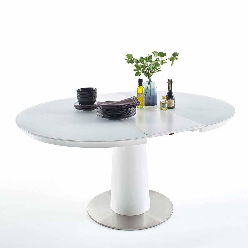 Ovaler Esstisch Weiß