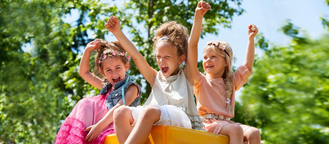 Parkour Im Garten Für Kinder