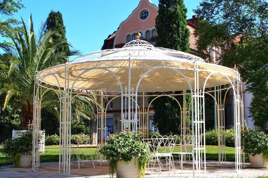 Pavillon Garten Winterfest