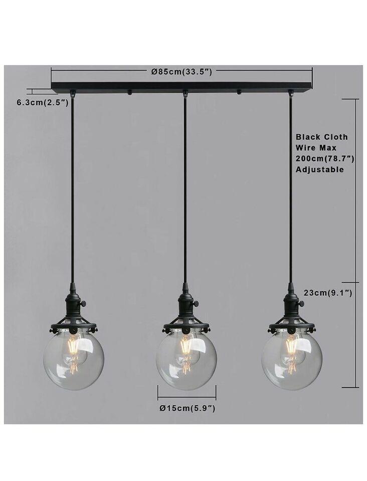 Pendelleuchte Glaskugel Lampe