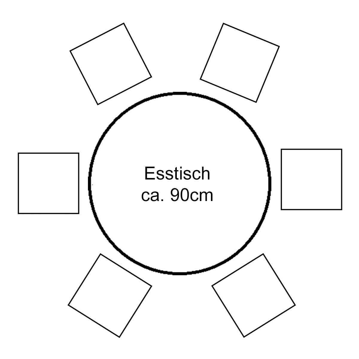 Platzbedarf Esstisch 8 Personen