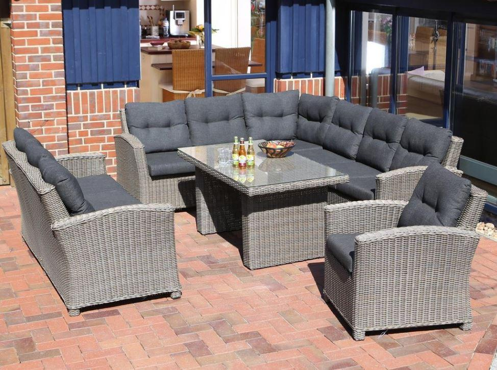 Polyrattan Lounge Sessel Garten