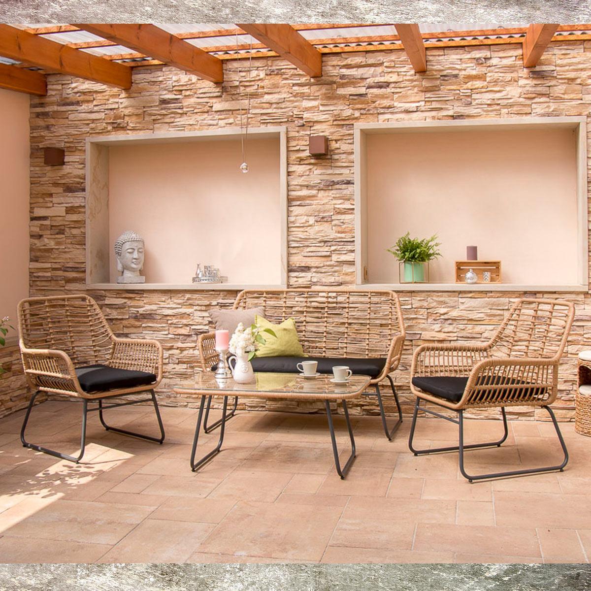 Polyrattan Loungemöbel Set