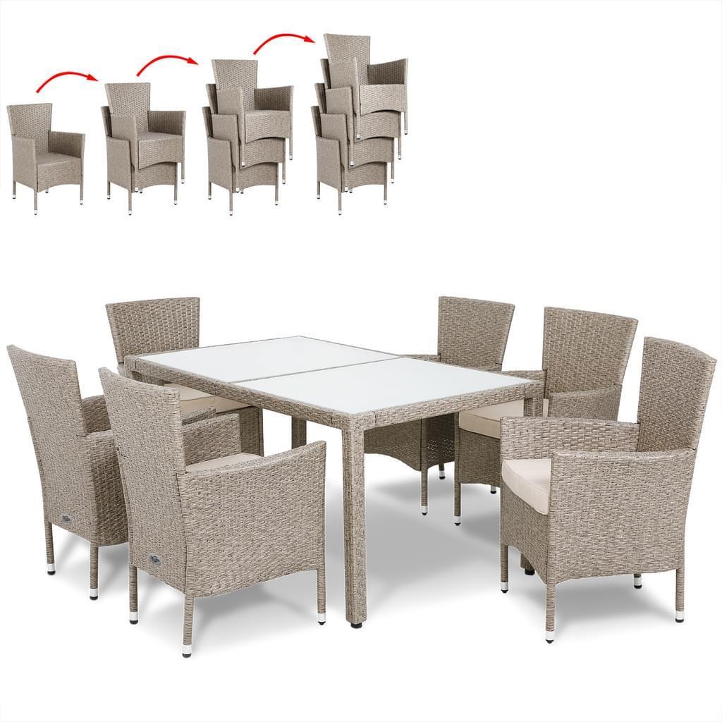 Polyrattan Möbel Grau