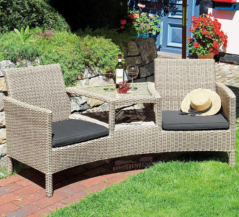 Polyrattan Sofa 2 Sitzer
