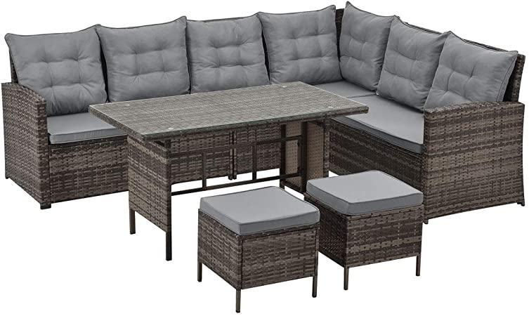 Polyrattan Sofa Gartenmöbel Set