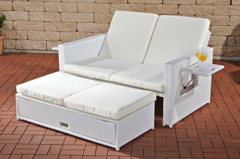 Polyrattan Weiße Gartenmöbel