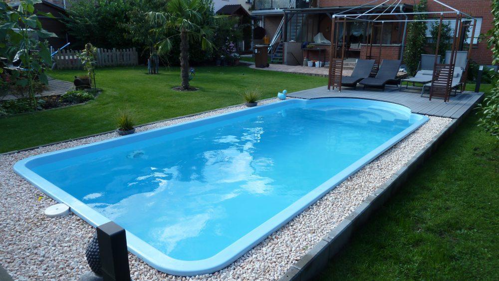 Pool Garten Eckig