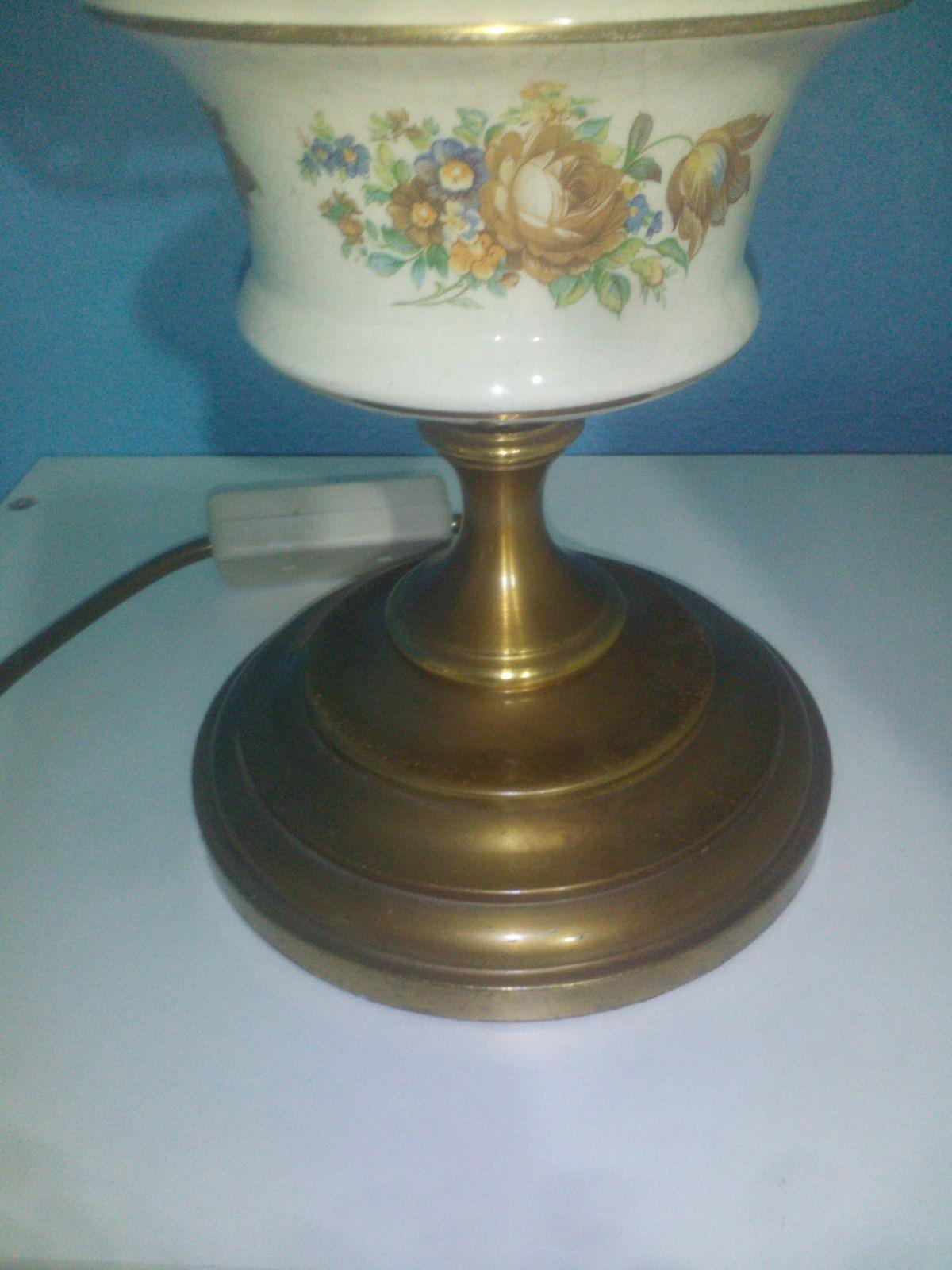 Porzellan Lampe Antik