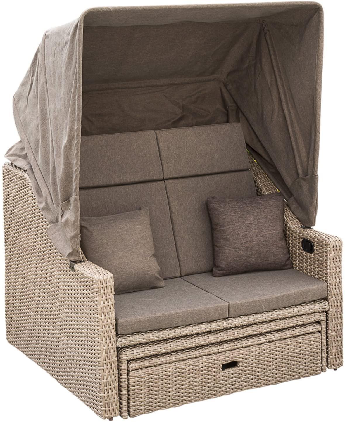 Rattan Couch Ausziehbar