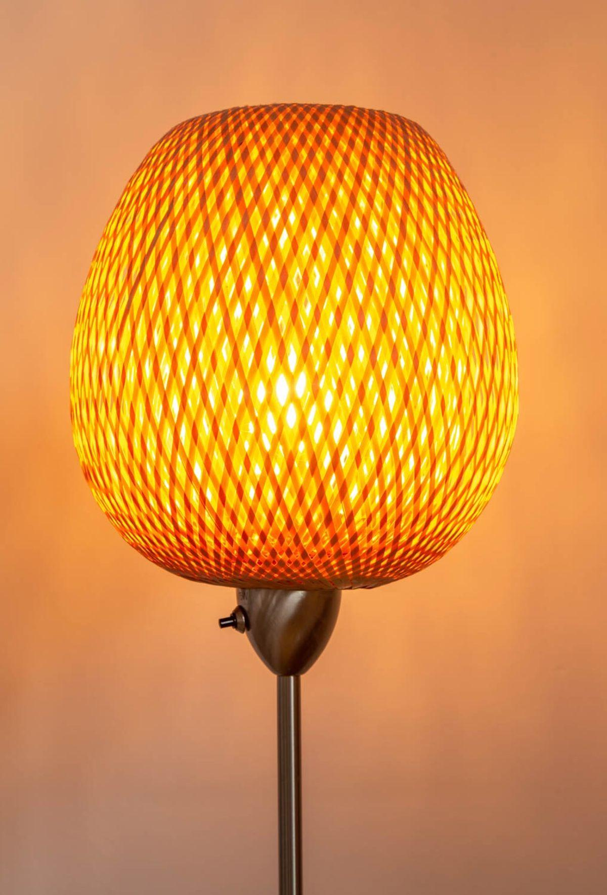 Rattan Lampe Stehlampe