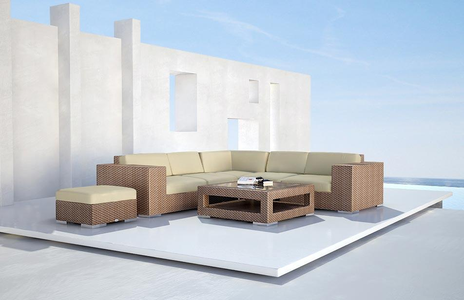 Rattan Lounge Möbel Outdoor