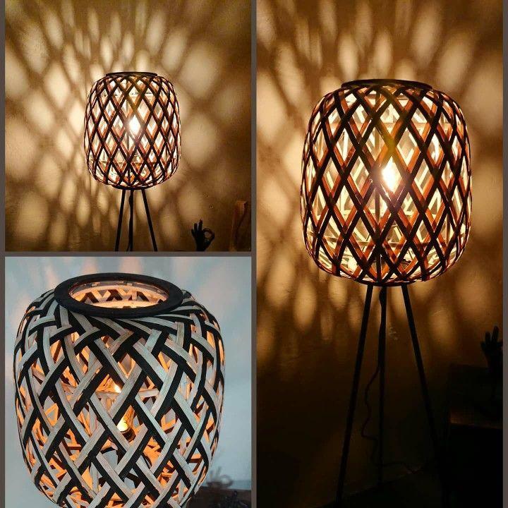 Rattan Stehlampe Bambus